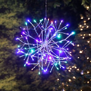 "16"" Christmas Snowflake Large Hanging Ornament w/96 LED"