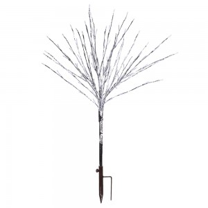 "39"" Foil Tree Branch Lighted Decor Stake with Warm White LED"