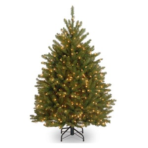 4 1/2 Dunhill Fir Hinged Tree with 450 Clear Lights