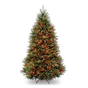 6 1/2' Dunhill Fir Hinged Tree w/ 650 multi lights