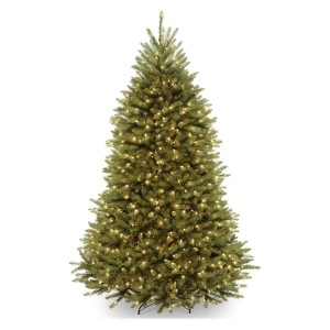 7' Dunhill Fir Hinged Tree with 700 Clear lights