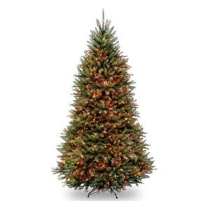 9' Dunhill Fir Hinged Tree w/ 900 Multi Lights