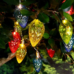 Multi-Colored Decorative String Lights w/10 LED Bulbs