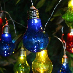 Multi-Colored Edison Bulb String Lights w/10 LED Bulbs