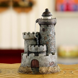 "10"" Lighthouse Tabletop Water Fountain"