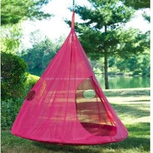 Red Tear Drop Hanging Chair