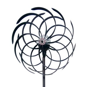 "68"" Solar Kinetic Dual Windmill Stake with LED Light"