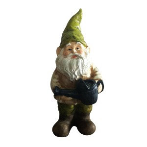 "17"" Tall Gnome on Watering Can"
