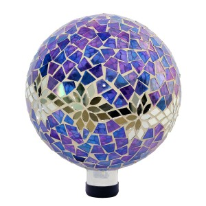 Mosaic Glass Purple Globe