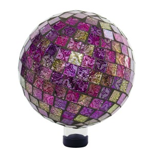 Purple and Gold Mosaic Gazing Globe