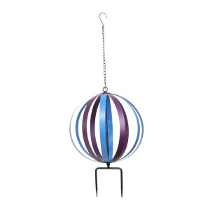 "13"" Metal Blue/Purple Orbit - Dual Feature Hanging or Stake"