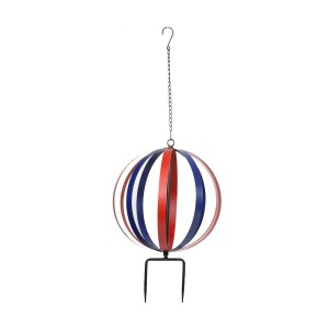 "13"" Metal Blue/Red Orbit - Dual Feature Hanging or Stake"
