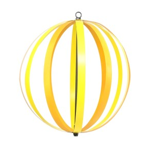"19"" Metal Yellow/Orange Orbit - Dual Feature Hanging/Stake"