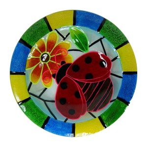 "18"" Glow in the Dark Ladybug Birdbath Topper"