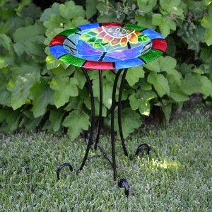 "18"" Glow in the Dark Butterfly Birdbath Topper"