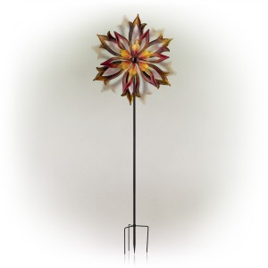 """96"""" Double-Sided Flame Spinning Garden Stake"""