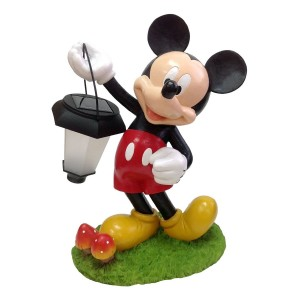 "12"" Tall Disney's Mickey Mouse Solar Statue"