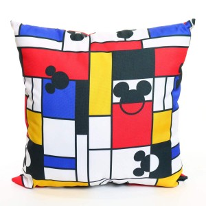 "18"" Disney's Mickey Mondrian Print Outdoor Throw Pillow"