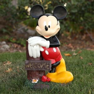 "22"" Tall Disney's Mickey Mouse Solar Welcome Statue"