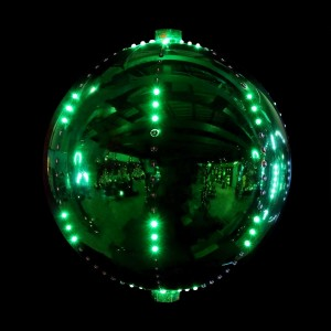 "12"" Christmas Ball Ornament w/240 Chasing LED Lights"