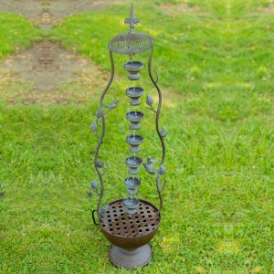 Seven Hanging Cup Tier Layered Floor Fountain