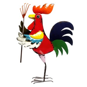 Colorful Rooster with Rake