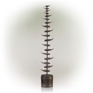 """70"""" Metal Silver Tiered Fountain"""
