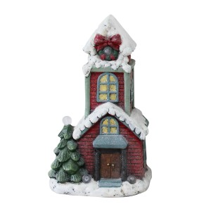 """18"""" House Statuary with Color changing LED- TM"""