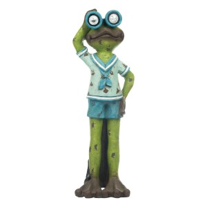"36"" Solar Standing Frog Garden Statue with LED Lights"