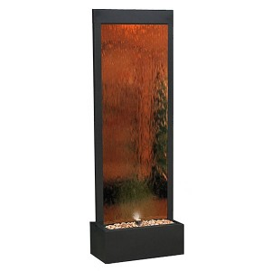 6' Tall Bronze Mirror Water Fountain | Water Wall