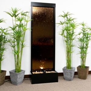 6' Tall Mirror Water Fountain | Water Wall