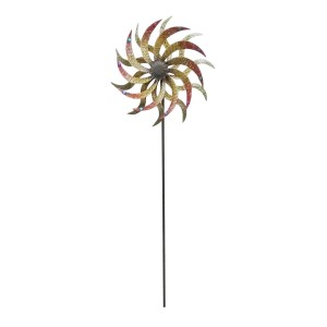 "Alpine 72"" Tall Abstract Windmill Garden Stake"