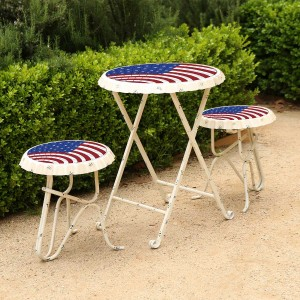 Americana Metal Bottle Cap Table and Chairs