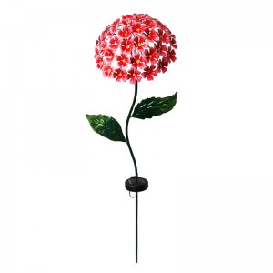 "44"" Tall Solar Hydrangea Stake with LED"