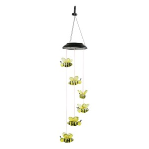 Solar Bee Wind Chime with LED Light