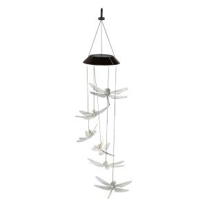 Solar Dragonfly Wind Chime with LED Light