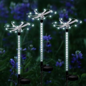 Solar Dragonfly with Motion Light Stake