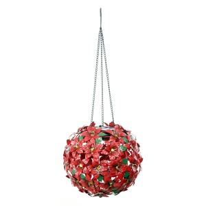 """43"""" Solar Poinsettia Bouquet Stakes with LED Lights"""