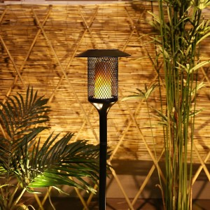 Solar Mesh Torch Stake with 96 Yellow Flickering LED Lights