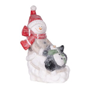 """17"""" Snowman and Penguin Statuary"""