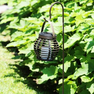 Alpine Solar Flickering Candle Hanging Lantern