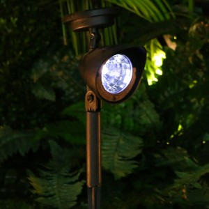 "Alpine 15"" Tall Solar Spot Light"