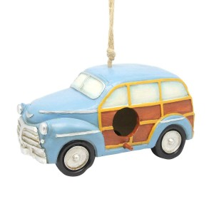 Hanging Blue Station Wagon Birdhouse