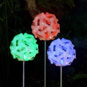 Solar Glass Ball Garden Stake Light- Color Changing