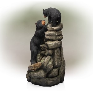 "36"" Bear and Cub Fountain 