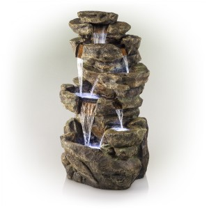 """51"""" 6-Tier Amazonian Waterfall Fountain with 30 LED Lights"""