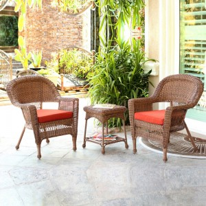 Wicker-3 Piece Honey Conversation Set
