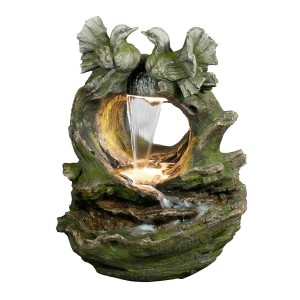 "32""Bird Waterfall Fountain with LED Light"
