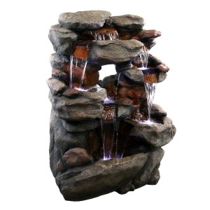 5-Tier Rock Fountain with LED Lights