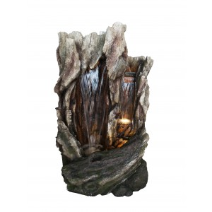 Tree Trunk Fountain with LED Lights